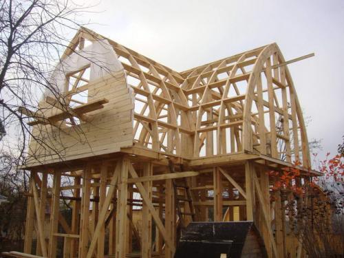Деревянный фронтон в кирпичном доме. Материалы для облицовки фронтона частного дома