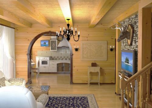 Оформление стен в загородном доме. Внутренняя отделка дачи (42 фото): варианты облицовки потолка, стен и пола