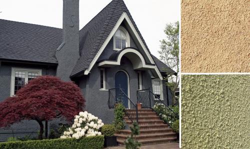 Виды облицовки фасадов домов. Штукатурка для облицовки фасада