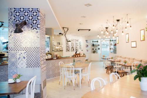 Дизайн колонны в интерьере кафе. Потрясающий винтажный дизайн уютного кафе Tartela