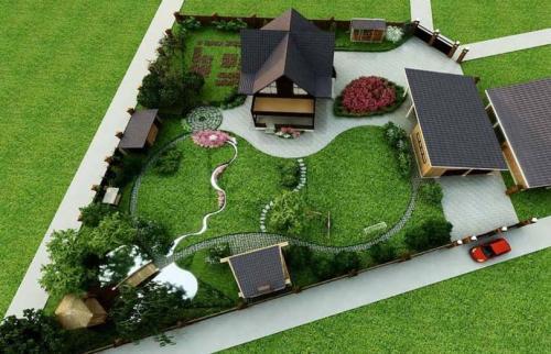 Готовые проекты ландшафтного дизайна участка 10 соток. Участок 10 соток: идеи дизайна, варианты зонирования и особенности размещения основных элементов и строений (115 фото + видео)