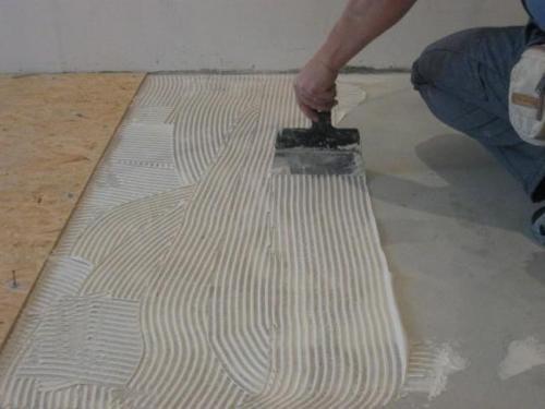 Укладка ОСБ на бетонный пол. Укладка ОСБ на пол с бетонной поверхностью