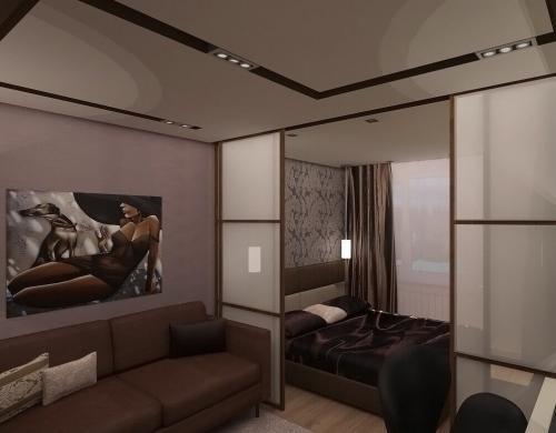 Идеи для гостиной спальни. Как совместить гостиную со спальней?