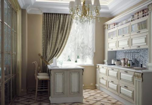 Квартира в стиле арт деко. Кухня