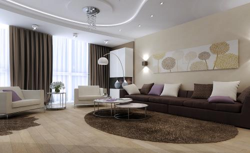 Цвет стен для темной гостинной. Рекомендации по подбору цвета для оформления гостиной