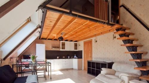 Однокомнатная квартира с мансардой дизайн. Квартира с мансардой: преимущества и варианты дизайна