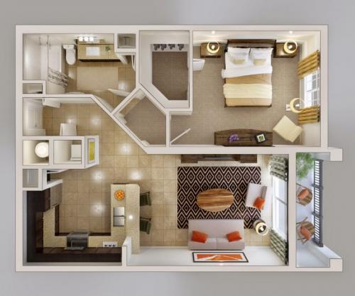 Как обставить квартиру двухкомнатную квартиру. Особенности планировки двухкомнатной квартиры