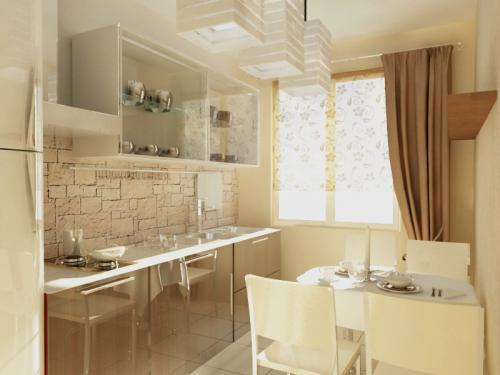 Интерьер квартиры в панельном доме. Как увеличить площадь кухни в панельном доме?