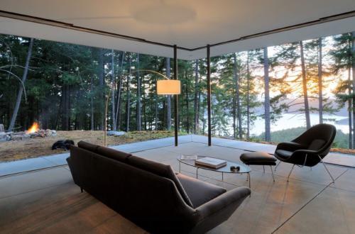 Дом с панорамными окнами в лесу. 10 удивительных комнат с видом на девственный лес – здесь можно отдохнуть душой