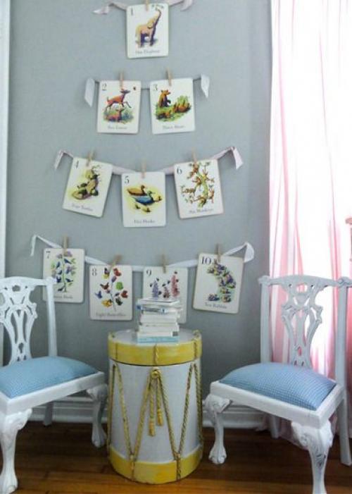 Как разместить детские рисунки на стене. Как красиво развесить свои работы