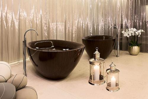 Ванная в стиле спа. Великолепная бриллиантовая текстура