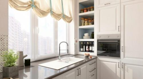 Раковина напротив окна на кухне. Мойка у окна на кухне: плюсы, минусы и дизайн