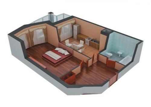 Как сделать из 1 комнаты сделать 2 комнаты. Как из 1 комнатной квартиры сделать 2 комнатную