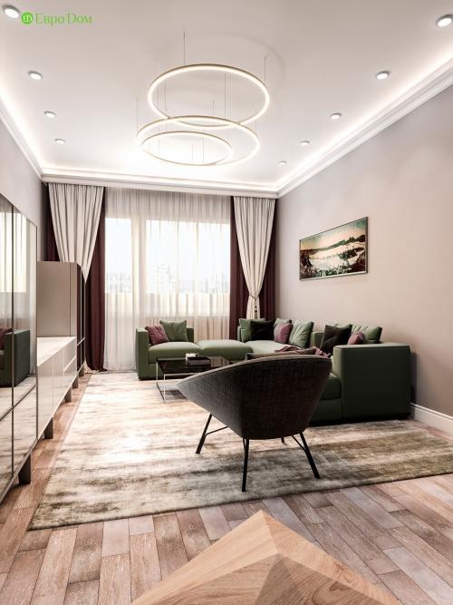Дизайн квартиры 47 кв м двухкомнатная. Современный интерьер панельной двухкомнатной квартиры
