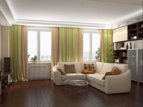 Как из комнаты с двумя окнами сделать две комнаты. Преимущества и недостатки гостиных с двумя окнами