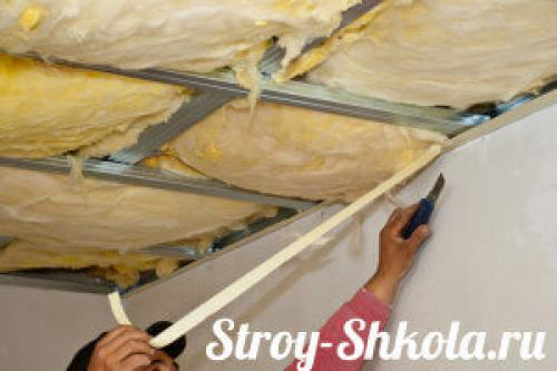 Толщина утеплителя потолка в частном доме минватой. Утепление потолка минеральной ватой (минватой) — пошаговая инструкция