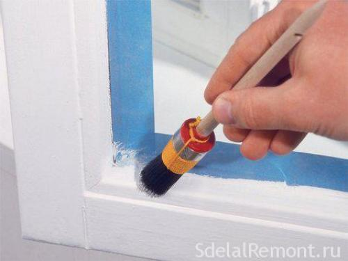 Как покрасить пластиковые окна. Применение инструментов для покраски