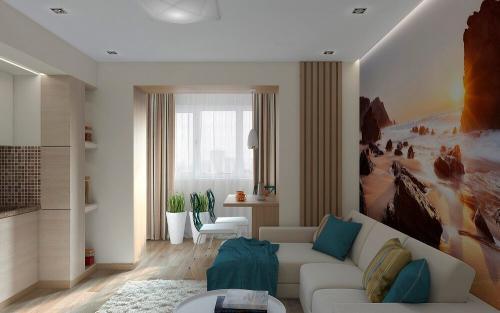 Ремонт дизайн 1 комнатной квартиры. Советы по выбору дизайна однокомнатной квартиры