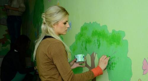 Чем рисовать на стенах в детском саду. Как разрисовать стены в детском саду