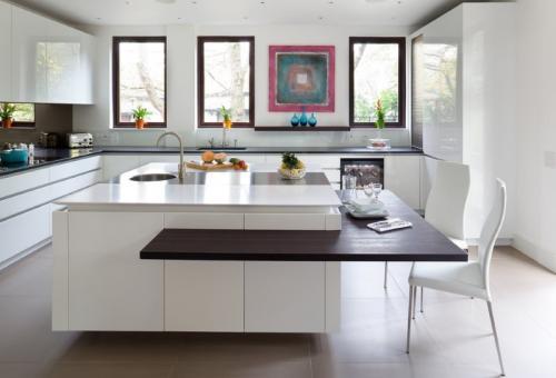 Дизайн гостиной столовой в частном доме. Модерн, классика или хай-тек