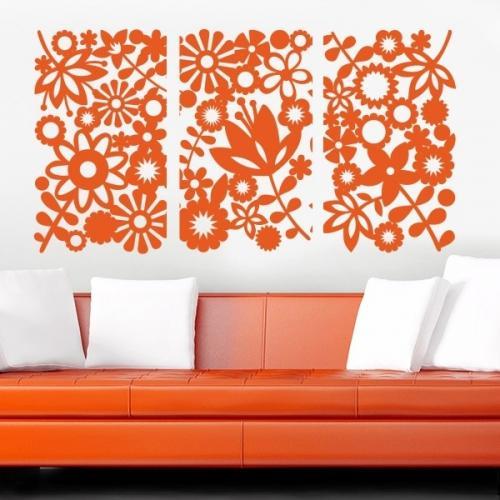 Цветы на стене нарисованные. Основные виды трафаретов