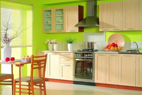 Обои для кухни зеленые. Где рекомендовано использовать цвет