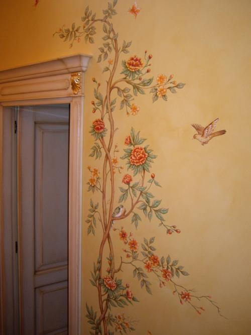 Роспись стен в комнате. Варианты росписи стен в нежилых помещениях квартиры: кухня, коридор и ванная комната
