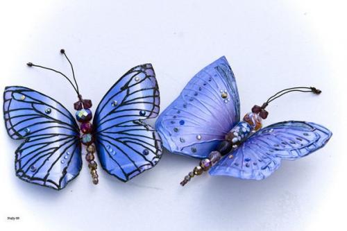 Бабочки своими руками из пластиковых бутылок. Сверкающая бабочка из пластиковой бутылки