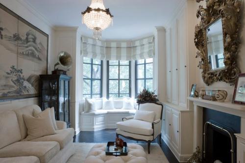 Интерьер кухни гостиной с эркером. Виды эркерных окон для кухни