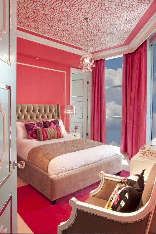 Какие цвета сочетаются с розовым в интерьере. Розовый в составе разных цветовых решений помещения
