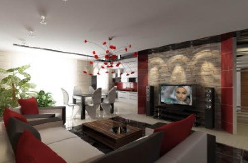 Студия зал и студия кухня. Интерьер комнаты-студии совмещенной с кухней-столовой. Эксклюзивное решение дизайна — игра со светом