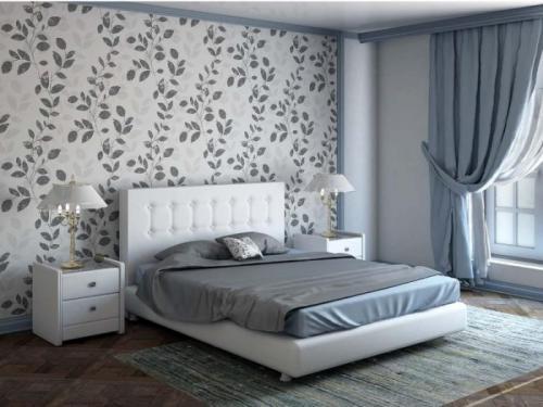 Обои для спальни. Комбинированные обои для спальни: модные тенденции