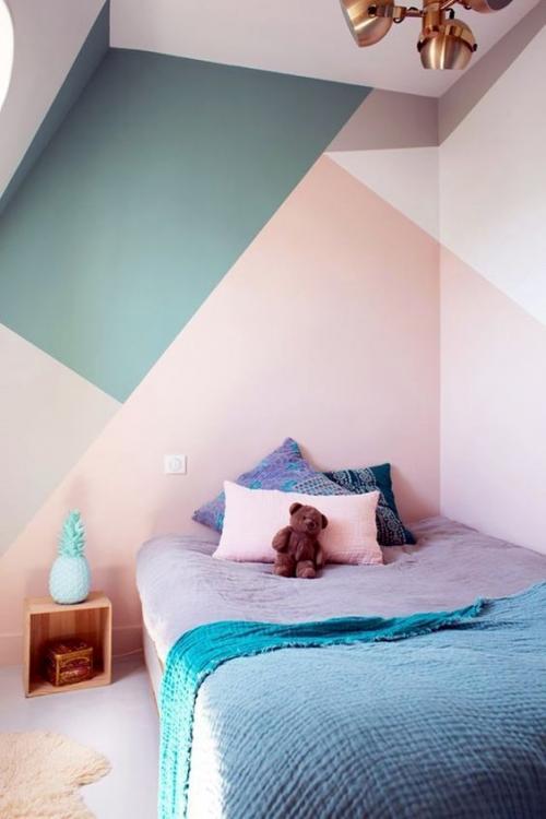Раскраска стен своими руками. 15 простых и оригинальных идей необычно покрасить стены