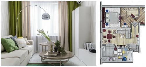 Перепланировка трехкомнатной панельной квартиры. Перепланировка трёшки-распашонки 60 м  в панельной хрущёвке: 5 схем (бесплатно)