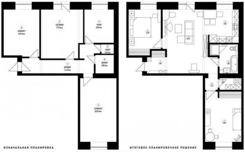 Дизайн в трехкомнатной квартиры в панельном доме. Особенности перепланировки трехкомнатных в панельном доме