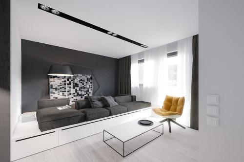 Белый интерьер маленькой квартиры. Оригинальное решение для интерьера маленькой квартиры