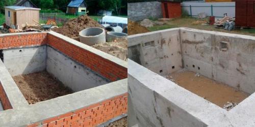 Строительство дома с подвалом своими руками. Строительство фундамента под дом с подвалом