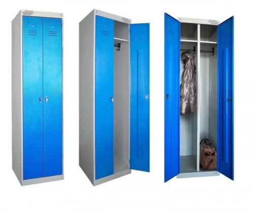Шкафчики для раздевалок металлические размеры. Преимущества и недостатки