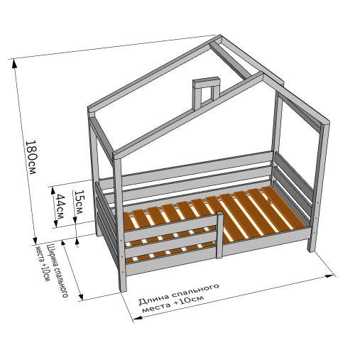 Детская Кроватка домик своими руками чертеж. Чертеж и размеры кровати