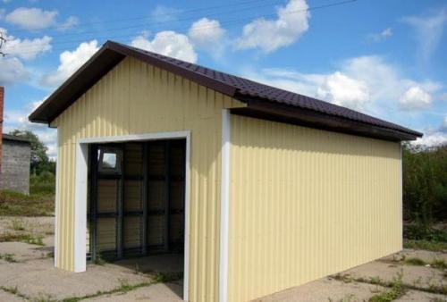 Обшивка гаража профлистом. Как можно своими руками обшить гараж профлистом снаружи, пошаговая инструкция